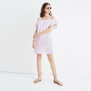 MADEWELL | Rose Bloom Striped Cold Shoulder XS